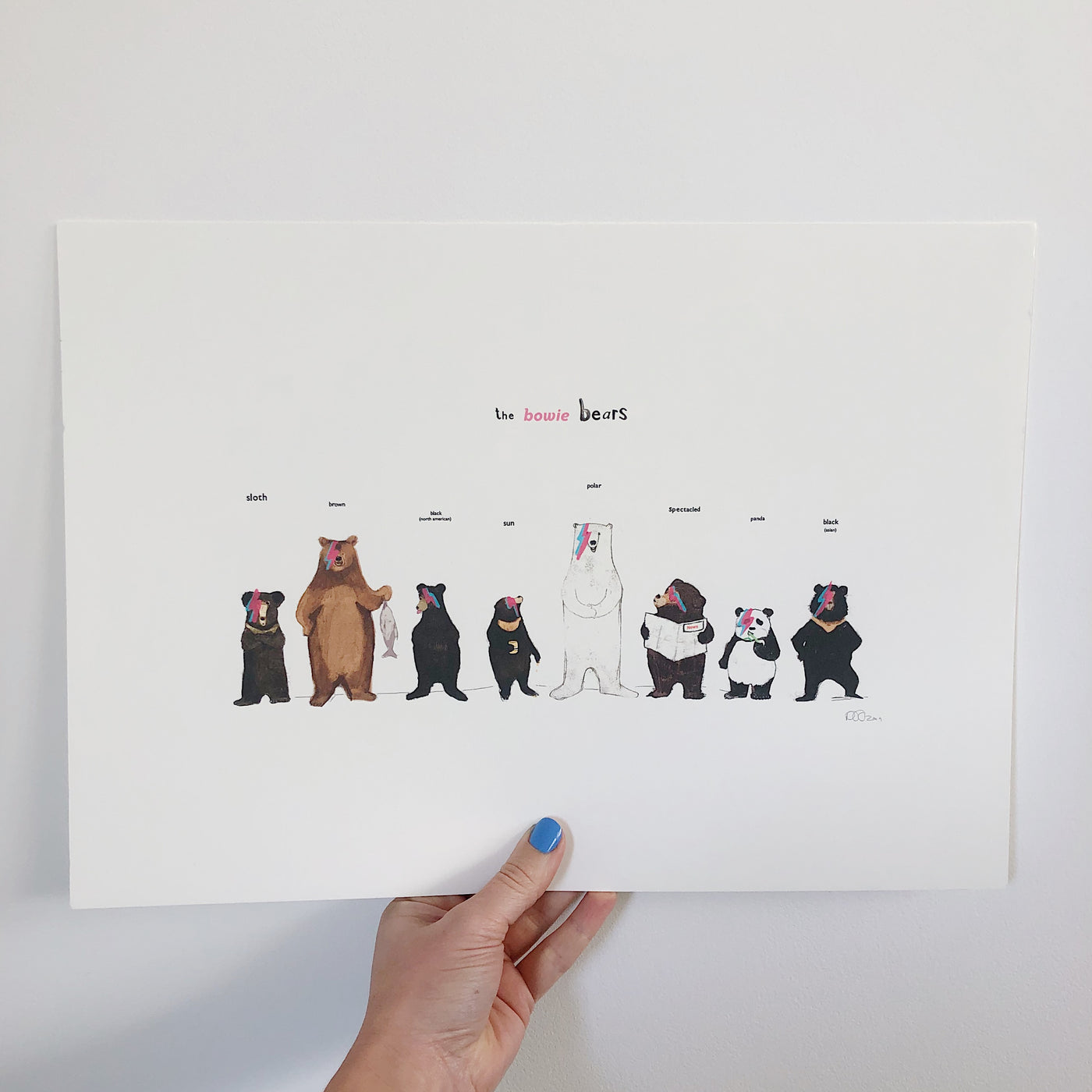 THE BOWIE BEARS PRINT