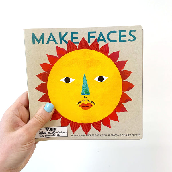 MAKE FACES: DOODLE + STICKER BOOK