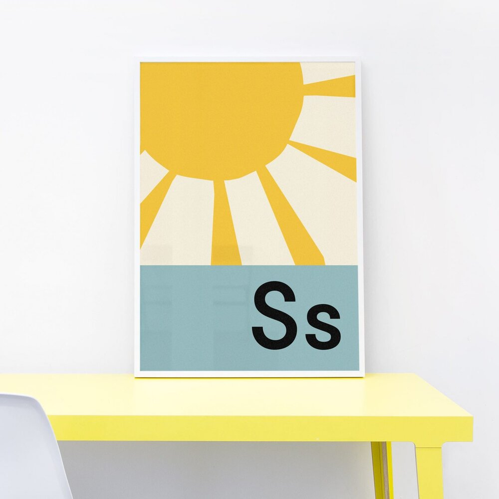 S IS FOR SUNSHINE PRINT