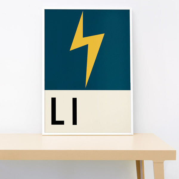 L IS FOR LIGHTNING PRINT