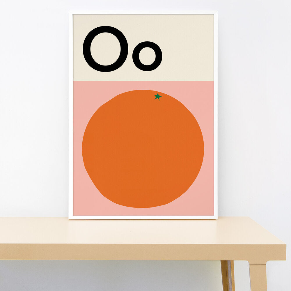 O IS FOR ORANGE PRINT