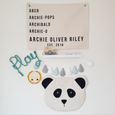 PANDA WALL HANGING  **MADE TO ORDER**