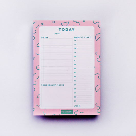 PINK DAILY PLANNER PAD