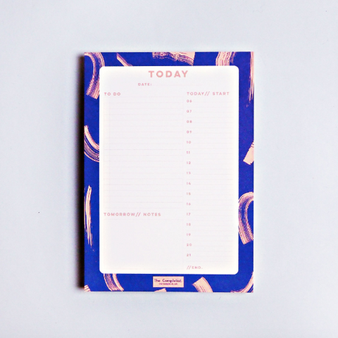 BLUE DAILY PLANNER PAD
