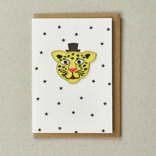 IRON ON PATCH CARD - LEOPARD