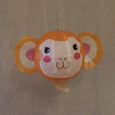 PAPER BALLOON CARD - MONKEY