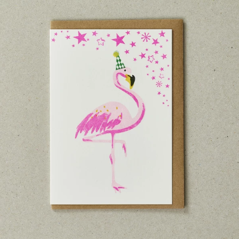 RISO CARD - FLAMINGO