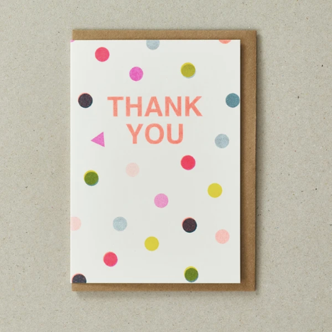 THANK YOU CARD - SPOTS