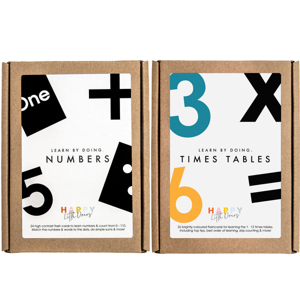 NUMBERS + TIMES TABLES FLASH CARDS
