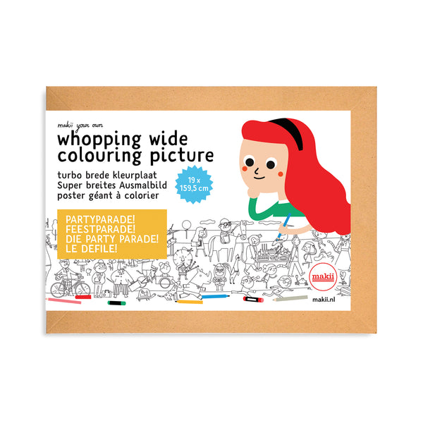 WHOPPING WIDE COLOURING PICTURE - PARTY PARADE