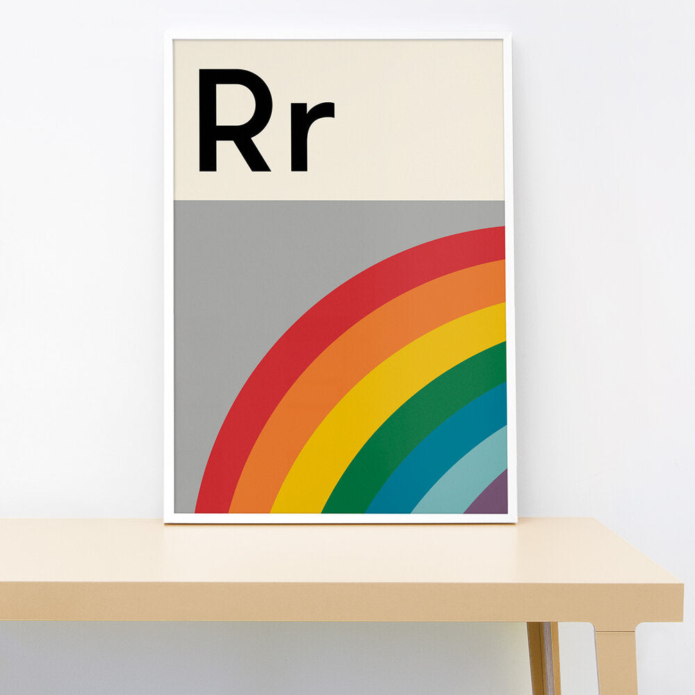 R IS FOR RAINBOW PRINT