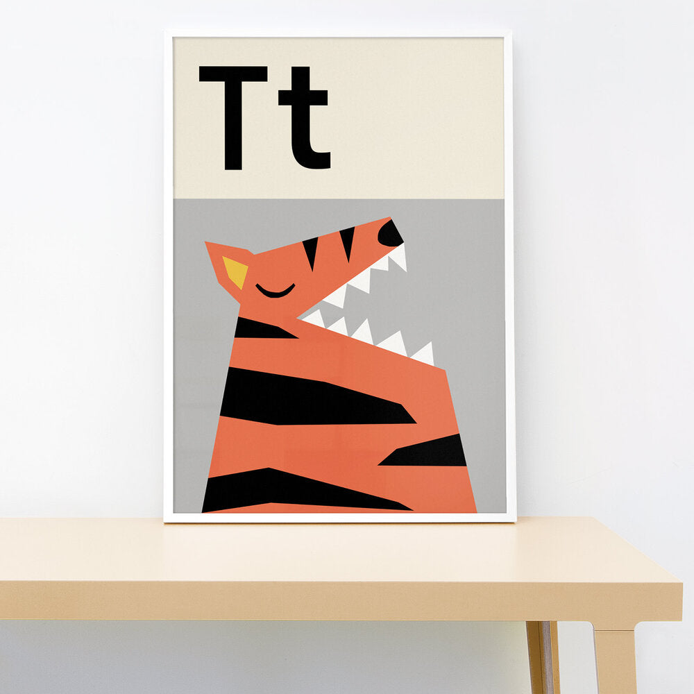 T IS FOR TIGER PRINT