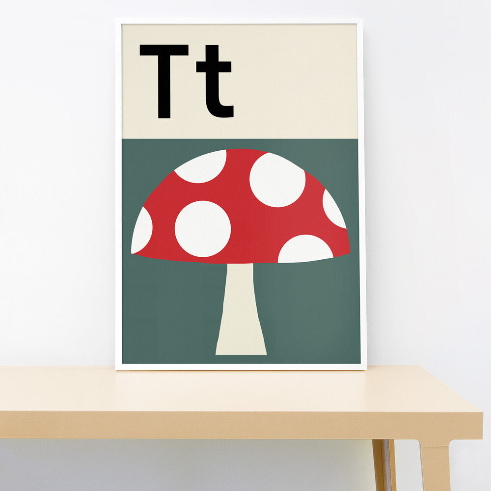 T IS FOR TOADSTOOL PRINT