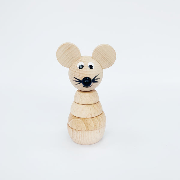 GILBERT - WOODEN MOUSE STACKING TOY