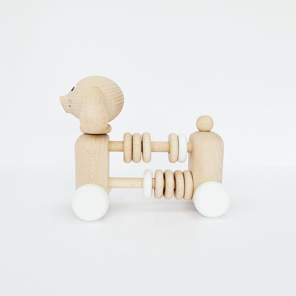 BARTHOLOMEW WOODEN DOG COUNTER/RATTLE