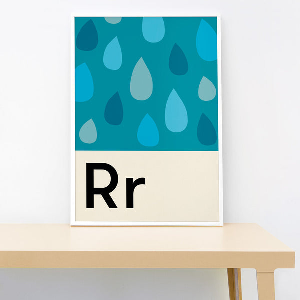 R IS FOR RAINDROPS PRINT