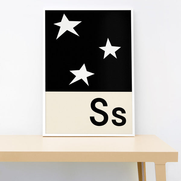 S IS FOR STARS PRINT