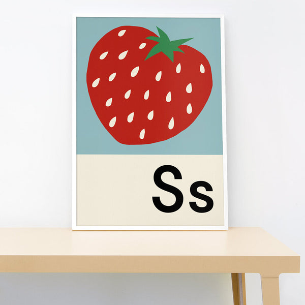 S IS FOR STRAWBERRY PRINT
