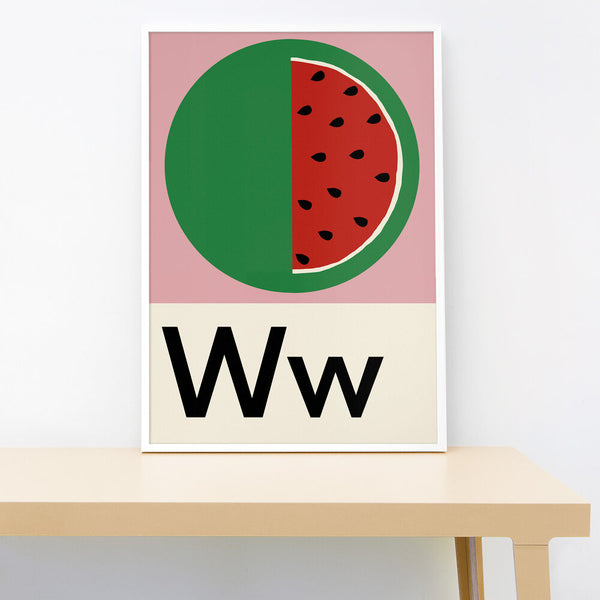W IS FOR WATERMELON PRINT