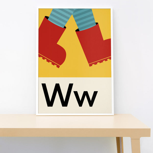 W IS FOR WELLIES PRINT