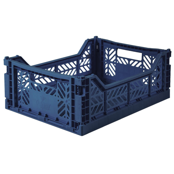 AYKASA - MEDIUM FOLDING CRATE - NAVY