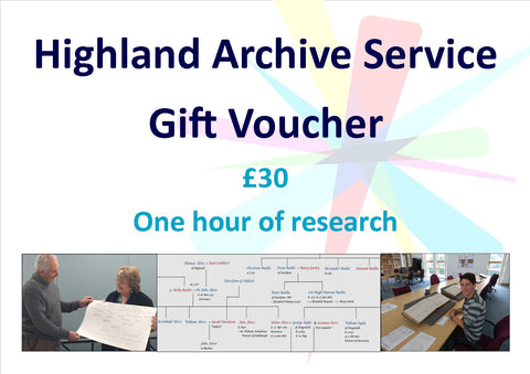 Archive and Family History - Gift Voucher