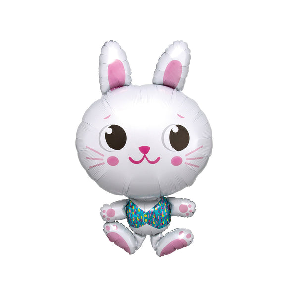 Smart Bunny Foil Balloon  Balloons Anagram - Hello Party