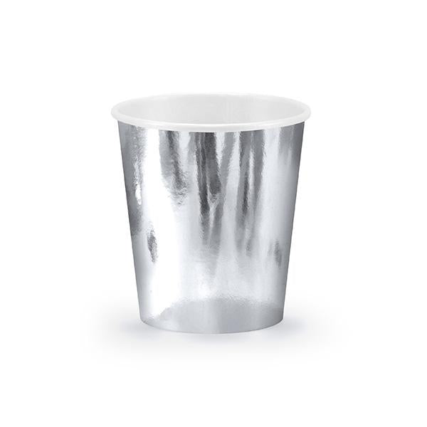 Shiny Silver Paper Cups  Party Cups Party Deco - Hello Party