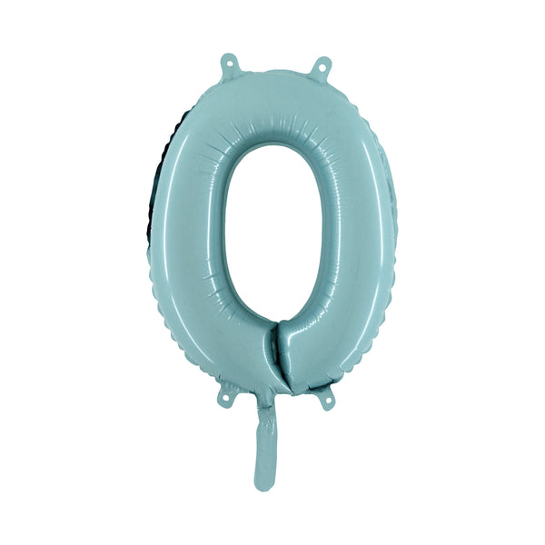 "Light Blue Number Foil Balloons (14"")"