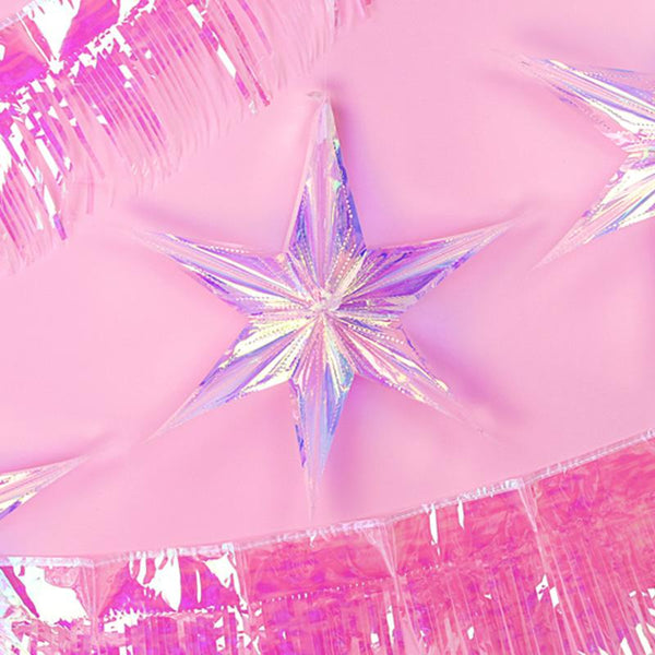 Iridescent Star Hanging Party Decoration (40cm)