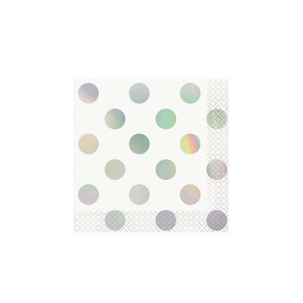 Iridescent Spotty Small Beverage Napkins  Napkins Unique - Hello Party