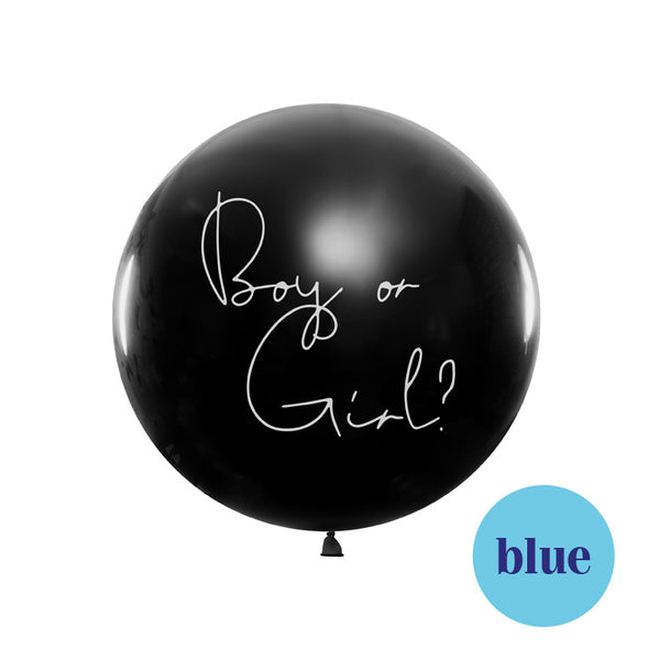 Boy or a girl Gender Reveal Balloon - Boy  Big Round Latex Balloons Party Deco - Hello Party