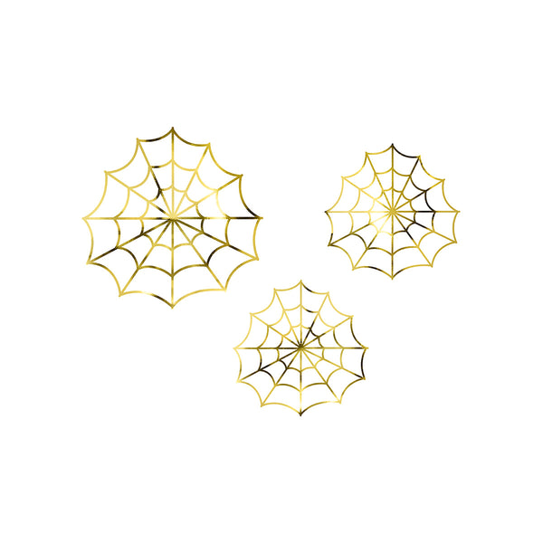 Golden Spiderweb Halloween Decorations