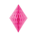 Hot Pink Diamond Tissue Hanging Decoration