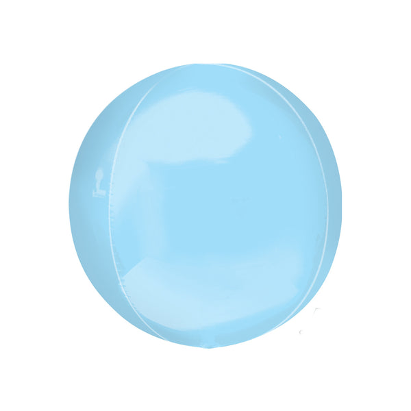 Baby Blue Orbz Balloon  orb balloon Anagram - Hello Party