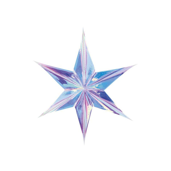 Iridescent Star Hanging Decoration (40cm)  Hanging Decorations Party Deco - Hello Party