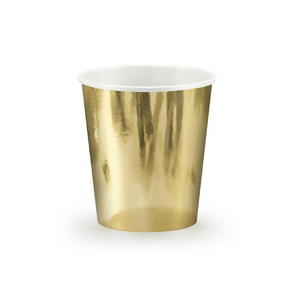Shiny Gold Paper Cups