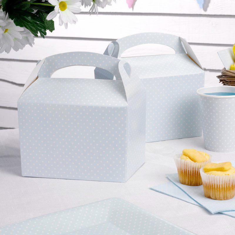 Blue polka dot lunch box  Party Lunch Box Neviti - Hello Party