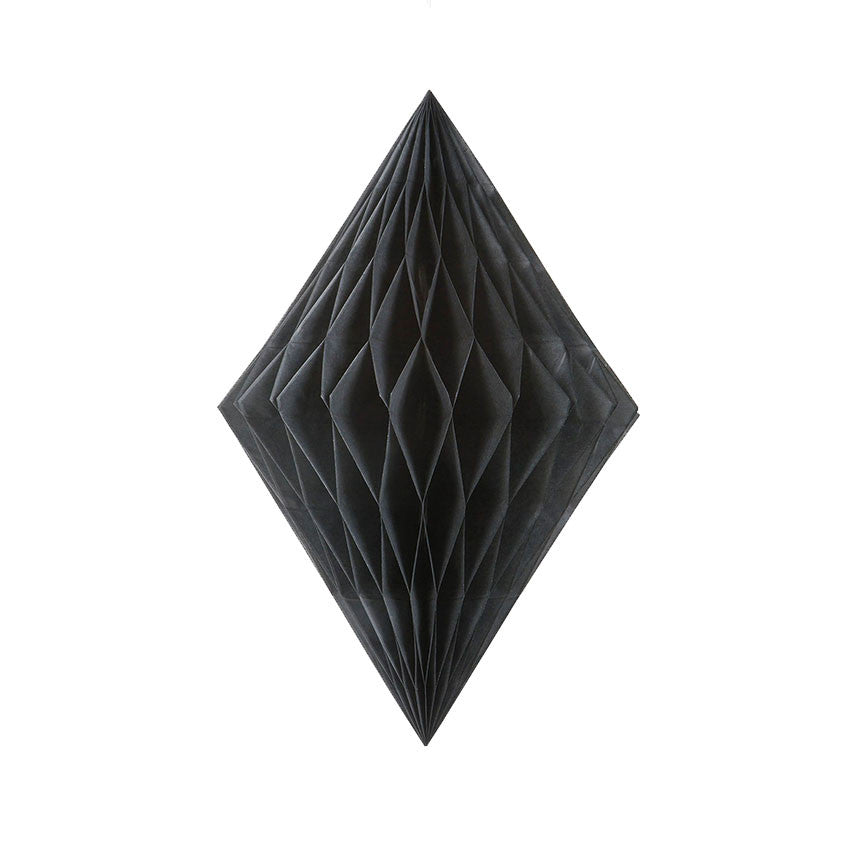 Black Diamond Tissue Hanging Decoration - Hello Party - All you need to make your party perfect!