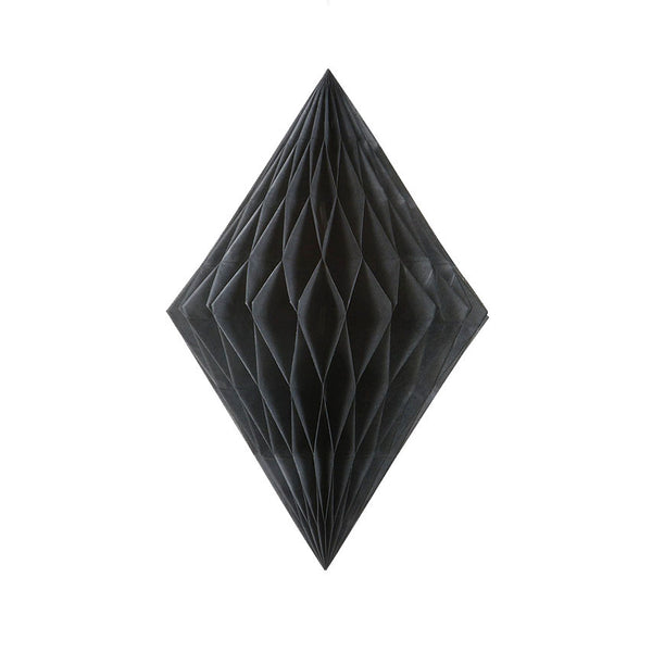 Black Diamond Tissue Hanging Decoration  Honeycomb Decoration HelloPartyUK - Hello Party