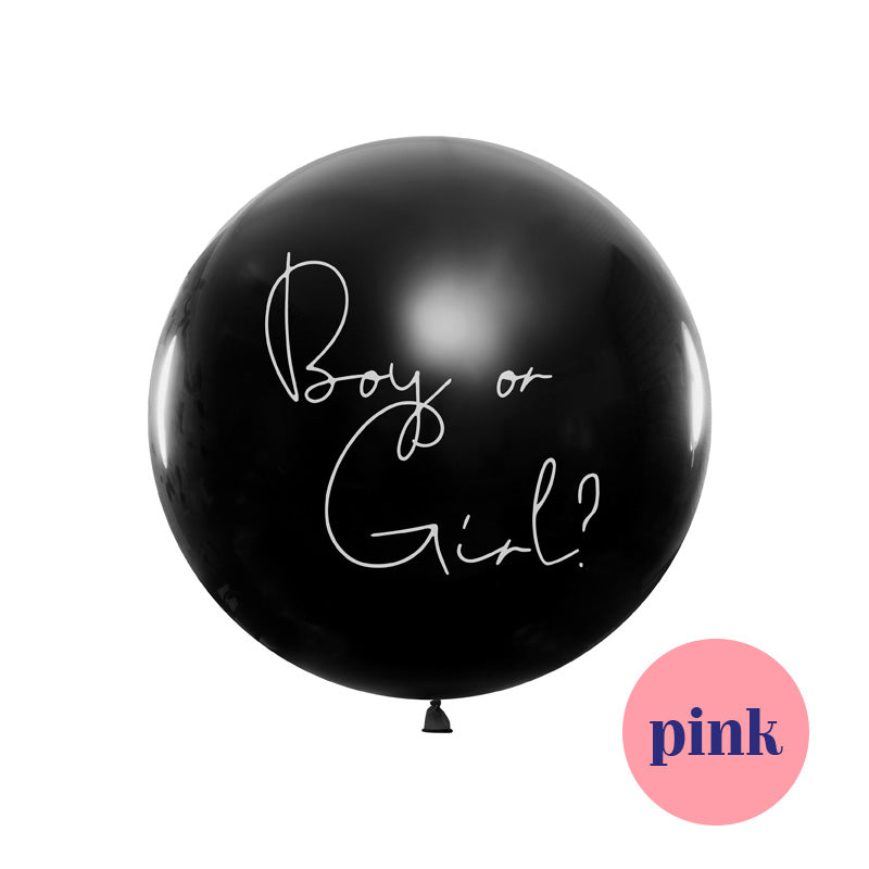 Boy or a girl Gender Reveal Balloon - Girl  Big Round Latex Balloons Party Deco - Hello Party