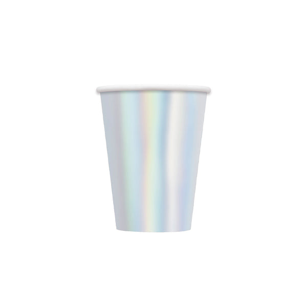 Iridescent Large Party Paper Cups