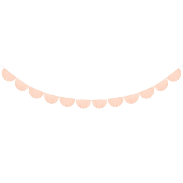 Scalloped Fringe Paper Garland - Light Peach Stylish Party Decorations