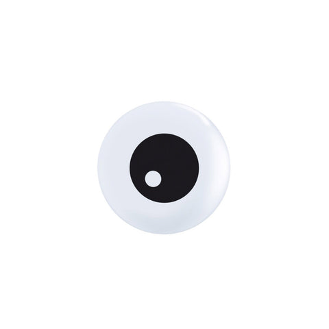 "Mini White Eye 5"" Halloween balloons (pack of 5)"