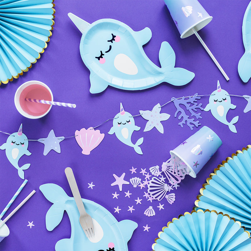 Narwhal Seashell DIY Garland Kit  Garland Party Deco - Hello Party