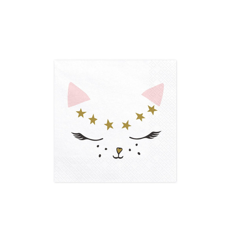 Pretty Party Cat Napkins  Napkins Party Deco - Hello Party