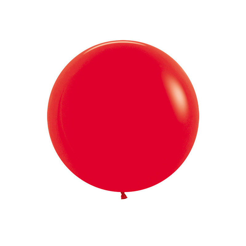 "Big Round Red Latex Balloon 24""  Big Round Latex Balloons Hello Party Essentials - Hello Party"