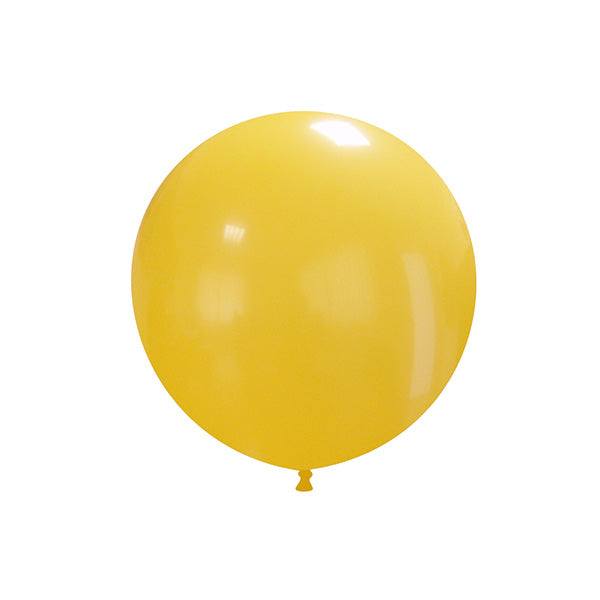 "Warm Yellow Big Round Balloon (19"")  Big Round Latex Balloons Hello Party Essentials - Hello Party"