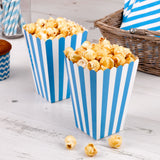 Blue striped popcorn box - Hello Party - All you need to make your party perfect!