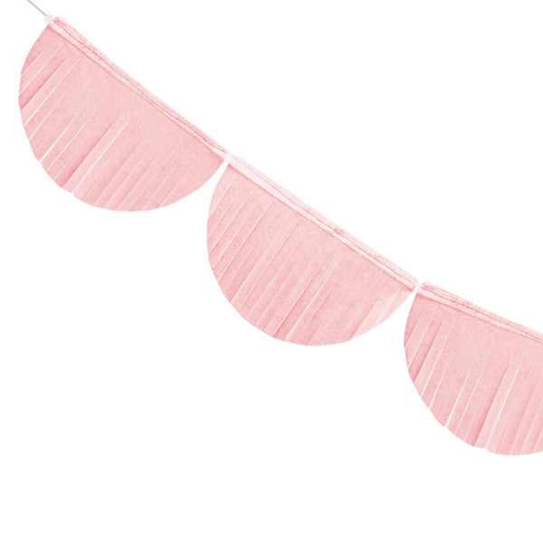 Scalloped Fringe Paper Garland - Light Pink